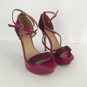 Aldo purple strappy platform heels Sz-40